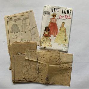 New Look Girls Dress Pattern Size 4-9